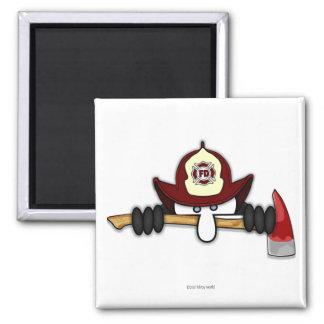 Firefighter Kilroy Magnet 2