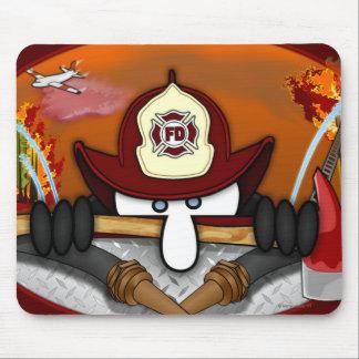 Firefighter Kilroy Mousepad