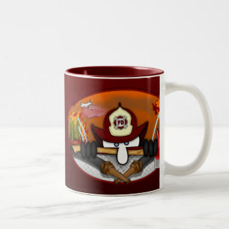 Firefighter Kilroy Red Mug