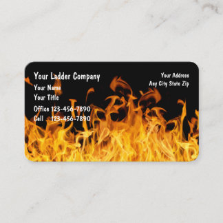 Firefighter Ladder Company Business Card