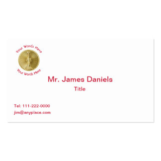 Firefighter Lieutenant Gold Medallion Double-Sided Standard Business Cards (Pack Of 100)