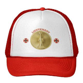 Firefighter Lieutenant's Gold Bugle Medallion Trucker Hat