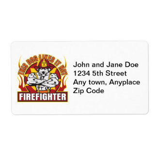 Firefighter Likes it Hot Shipping Label
