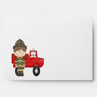 Firefighter, Little Red Fire Truck, Dalmatian Envelope