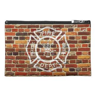 Firefighter Logo Brick Wall Travel Accessories Bag