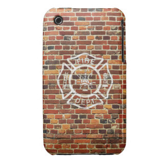 Firefighter Logo Brick Wall iPhone 3 Cases
