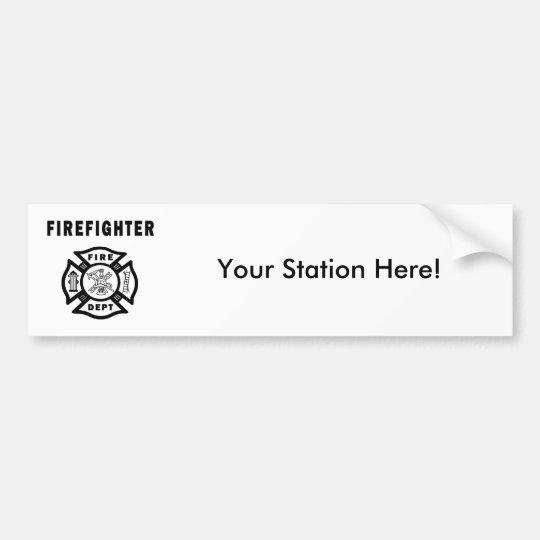 Firefighter Logo Bumper Sticker