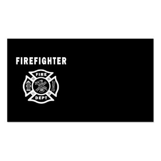 Firefighter Logo Business Cards