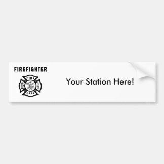 Firefighter Logo Car Bumper Sticker