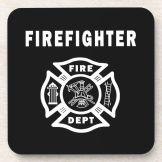 Firefighter Logo Coasters