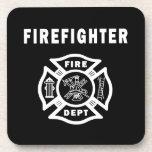 Firefighter Logo Drink Coaster
