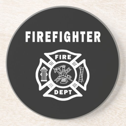 Firefighter Logo Drink Coasters