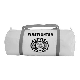 Personalized Firefighter Gear Gym Bags