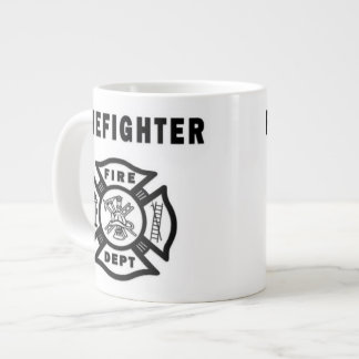 Firefighter Logo Giant Coffee Mug