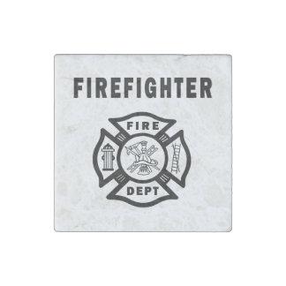 Firefighter Logo Stone Magnet