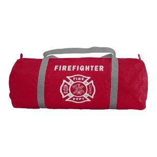 Firefighter Logo Gym Duffel Bag