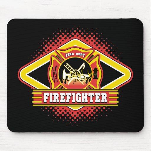 Firefighter Logo Mouse Pad   Zazzle