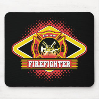 Firefighter Logo Mouse Pad