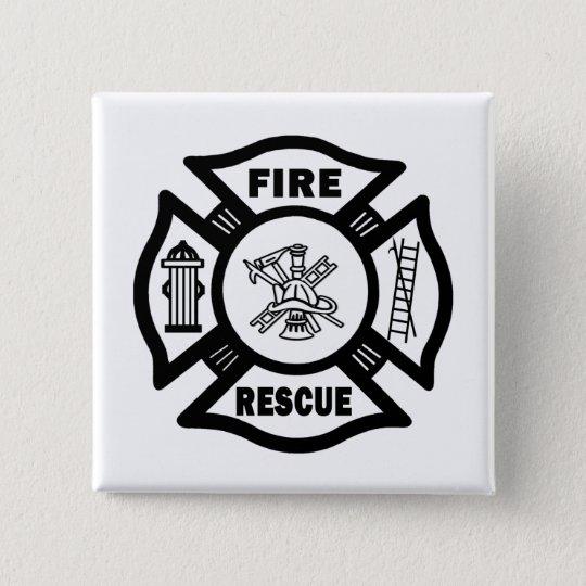 Firefighter Logo Pinback Button