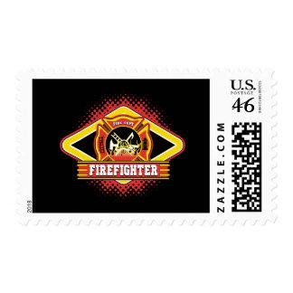 Firefighter Logo Stamp