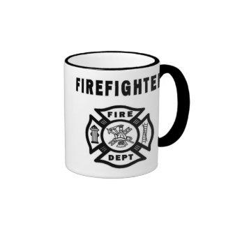 Firefighter Logo Ringer Mug