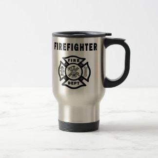 Firefighter Logo Travel Mug