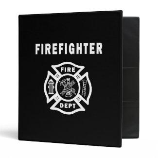 Firefighter Logo Vinyl Binder