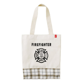 Firefighter Logo Zazzle HEART Tote Bag