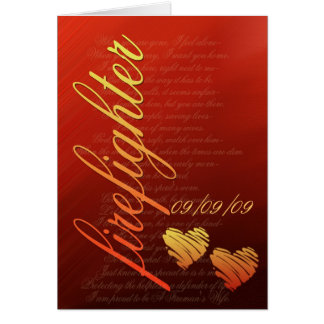 Firefighter love card - customize with your date