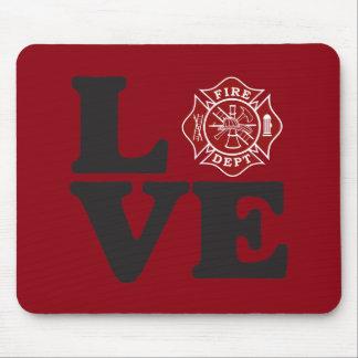 Firefighter LOVE Mousepad