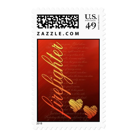 Firefighter love stamp ... for the bride and groom