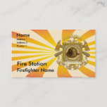 Firefighter Loyal Shield Business Card