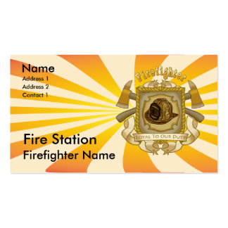 Firefighter Loyal Shield Business Card Templates
