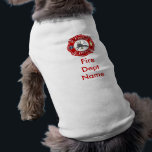 """FireFighter Maltese Cross Doggie Shirt<br><div class=""""desc"""">Let your pooch show pride in your Fire Dept also!! Add your Fire Dept Name and or badge number to this doggie shirt... </div>"""