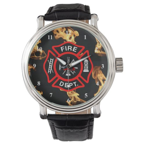 Firefighter Maltese Cross | Fire Dept Badge Watch