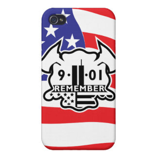 Firefighter Maltese Cross with 9-11 Tribute iPhone 4/4S Cover