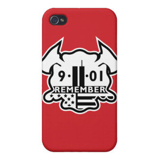 Firefighter Maltese Cross with 9-11 Tribute Cover For iPhone 4