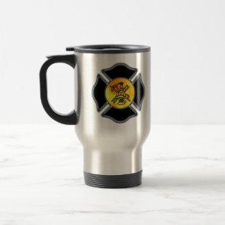 Firefighter Maltese Travel Mug