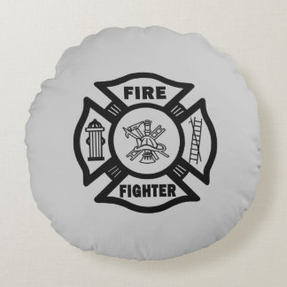 Firefighter Round Pillow