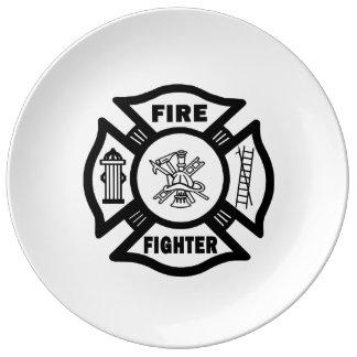 Firefighter Porcelain Plates