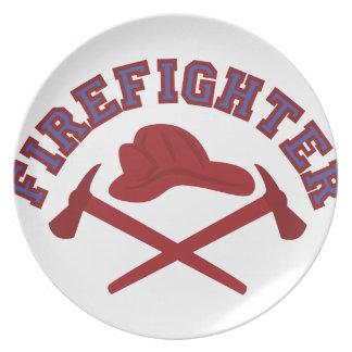 Firefighter Melamine Plate