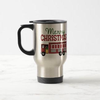 Firefighter Merry Christmas 15 Oz Stainless Steel Travel Mug