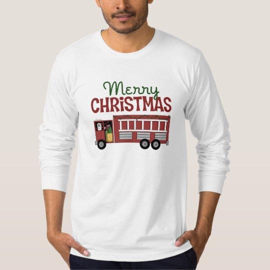 Firefighter Merry Christmas T-Shirt