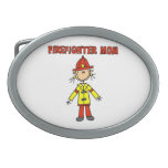 Firefighter Mom T-shirts and Gifts Belt Buckles