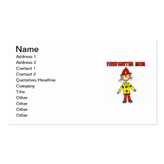 Firefighter Mom T-shirts and Gifts Double-Sided Standard Business Cards (Pack Of 100)
