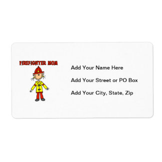 Firefighter Mom T-shirts and Gifts Shipping Label