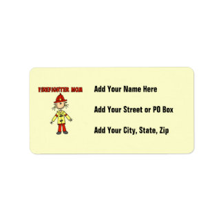 Firefighter Mom T-shirts and Gifts Address Label