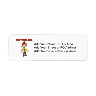 Firefighter Mom T-shirts and Gifts Return Address Label