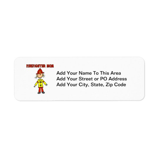 Firefighter Mom T-shirts and Gifts Label
