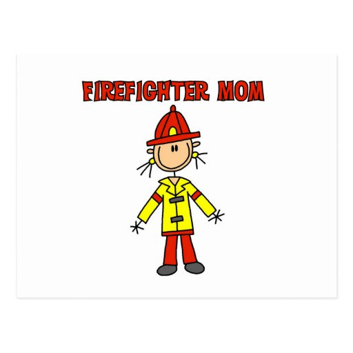 Firefighter Mom T-shirts and Gifts Postcards